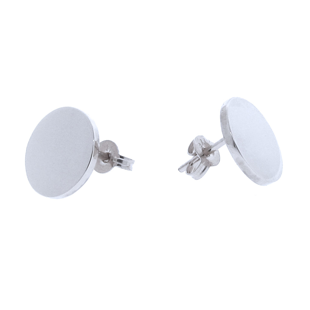 White Gold Medium 'Eclipse' stud Earrings