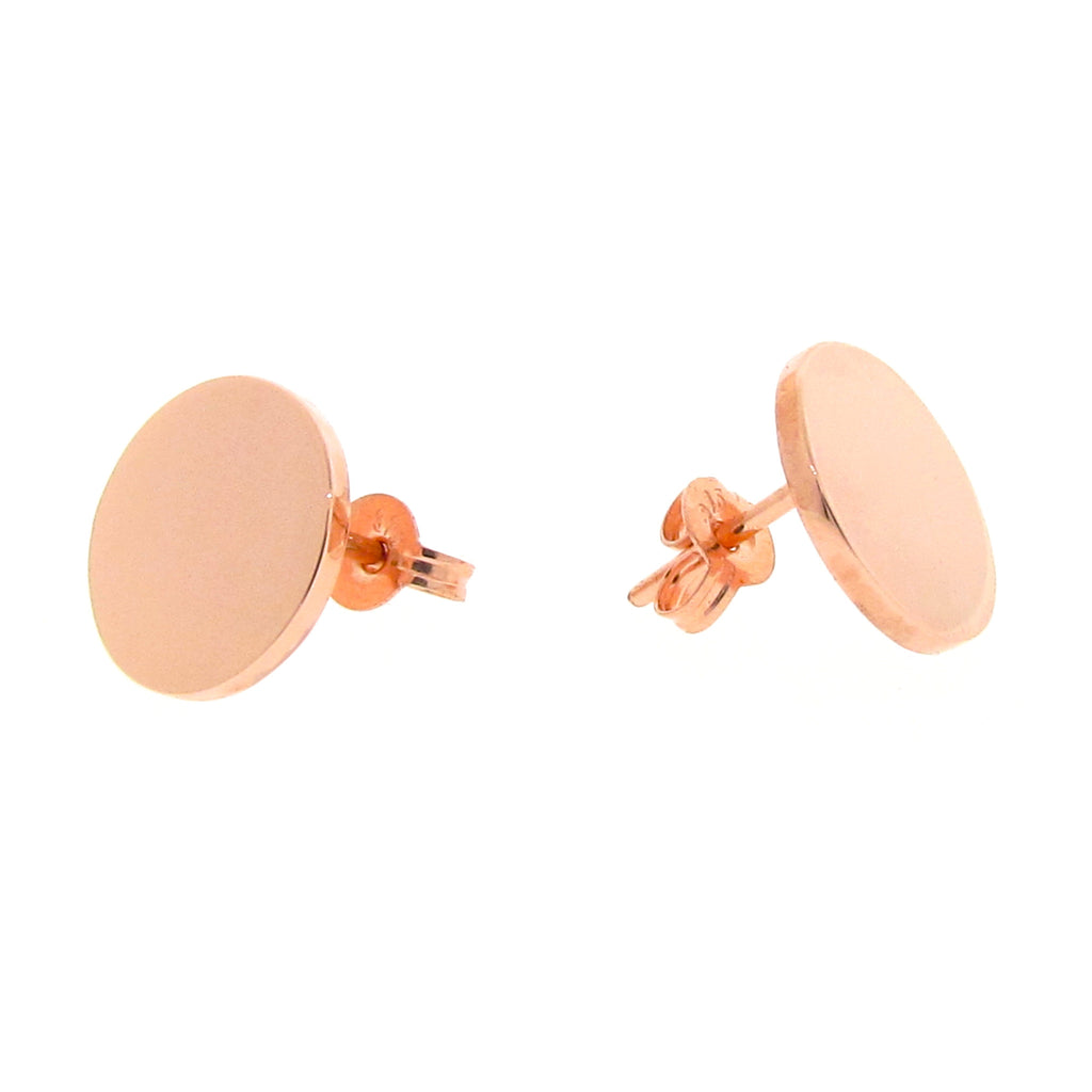 Rose Gold Medium Eclipse stud Earrings