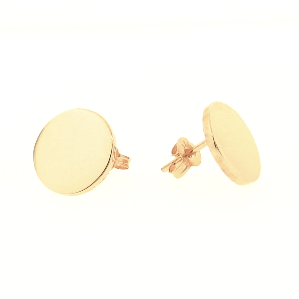 Yellow Gold Medium 'Eclipse' stud Earrings