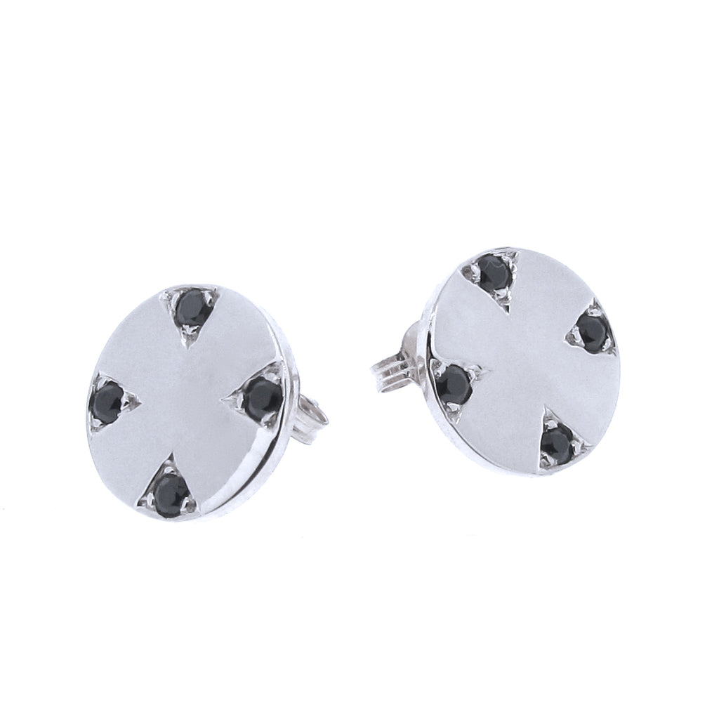 White Gold Four Corners of the Earth studs