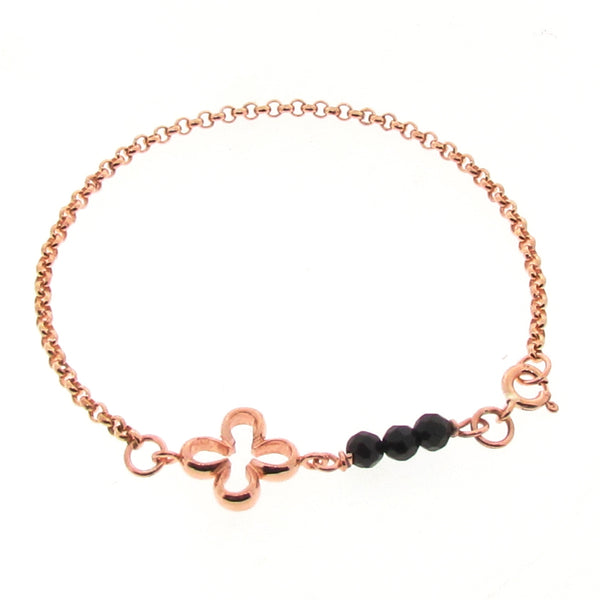 Rose Gold Onyx Luck Bracelet