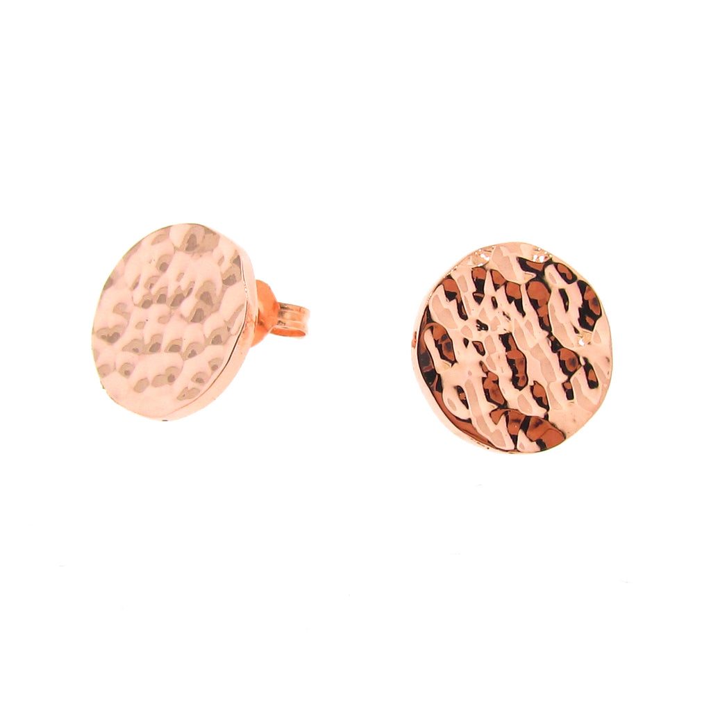 Rose Gold Solar Eclipse stud Earrings