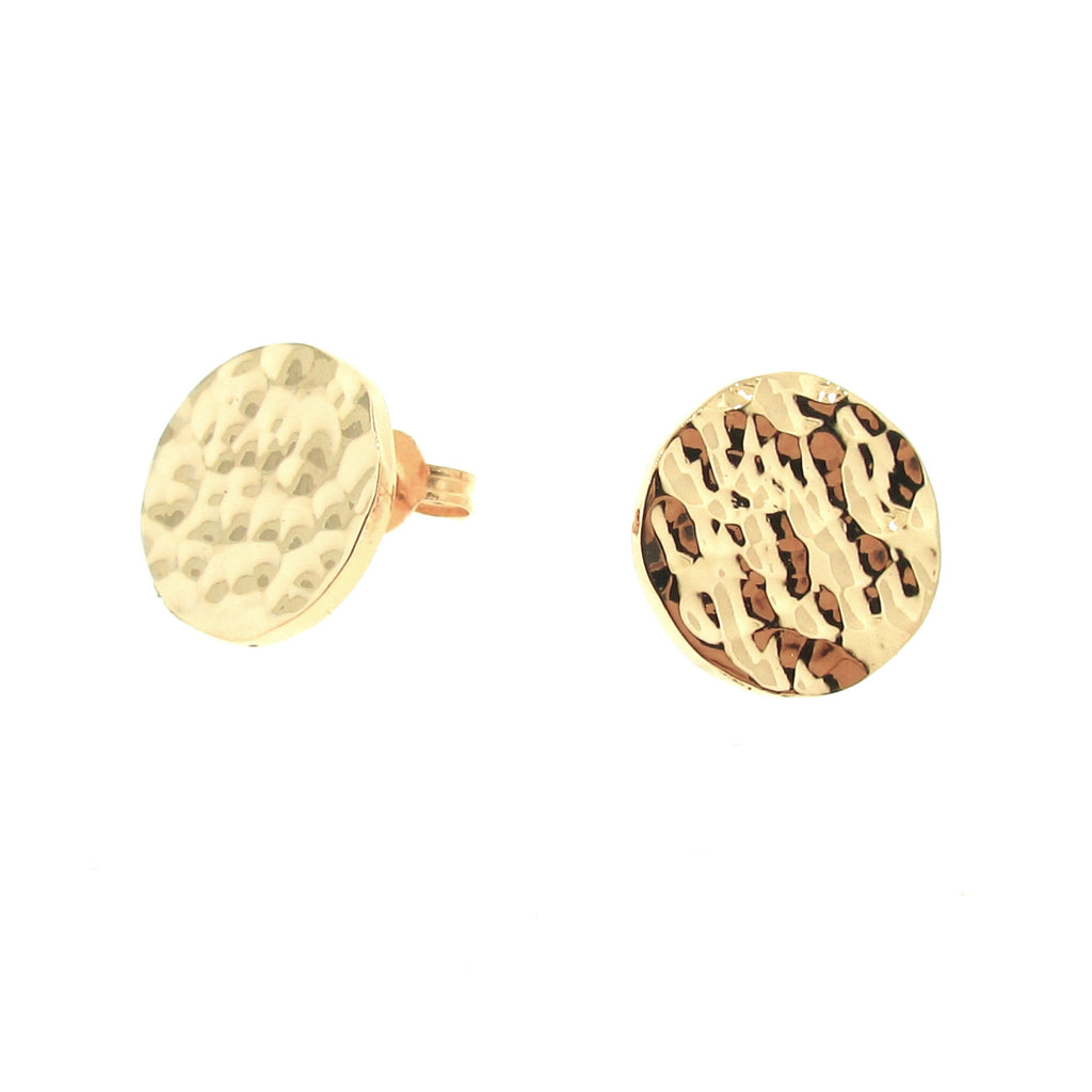 Yellow Gold Solar Eclipse stud Earrings