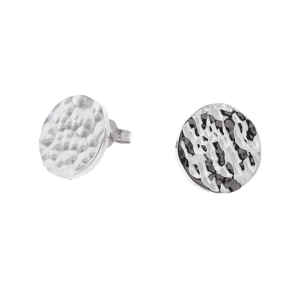 White Gold Solar Eclipse stud Earrings