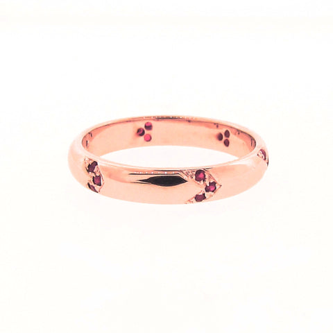 Find Your Direction Narrow Band in Rose Gold and Ruby
