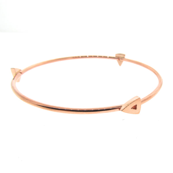 Rose Gold Arrow Heads Bangle