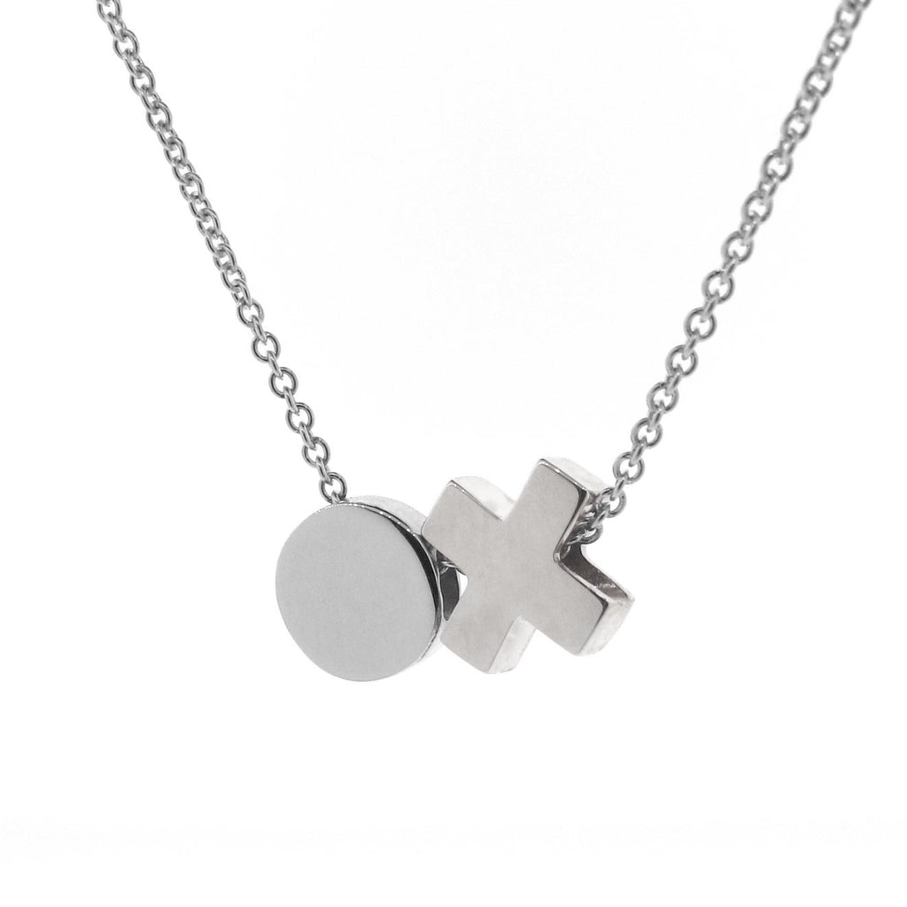 Silver 'Baby Kiss Hug' Necklace