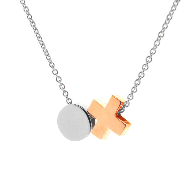 Silver and Rose Gold 'Baby Kiss Hug' Necklace or anklet