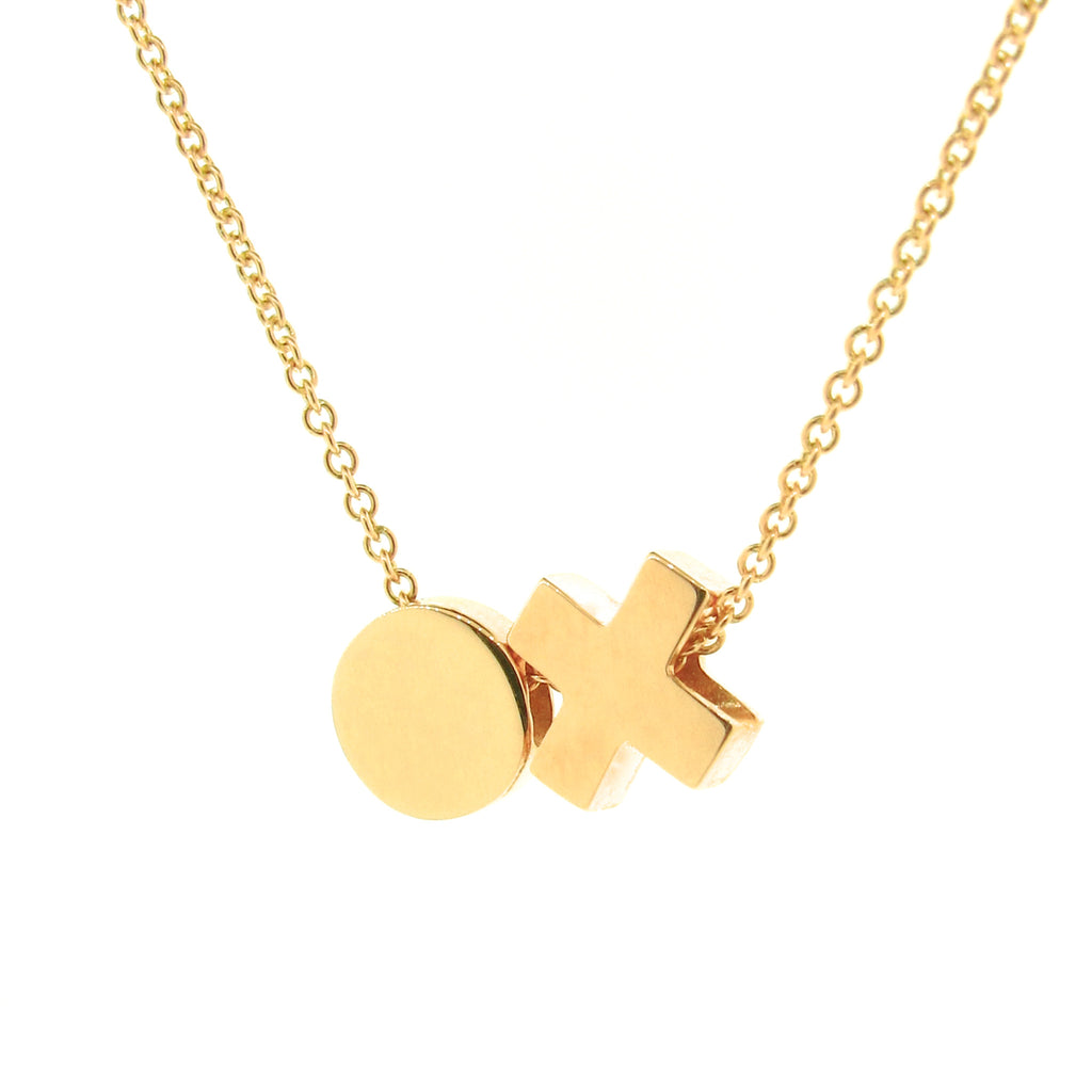 Gold 'Baby Kiss Hug' Necklace