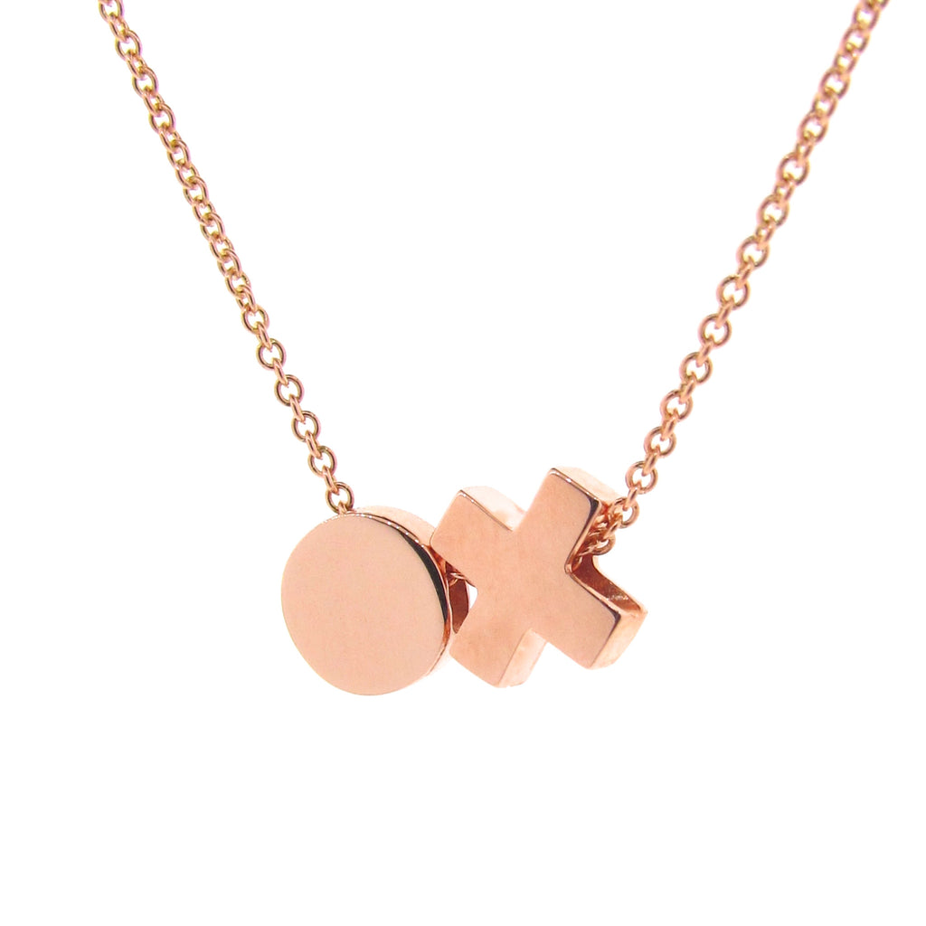 Rose Gold 'Baby Kiss Hug' Necklace