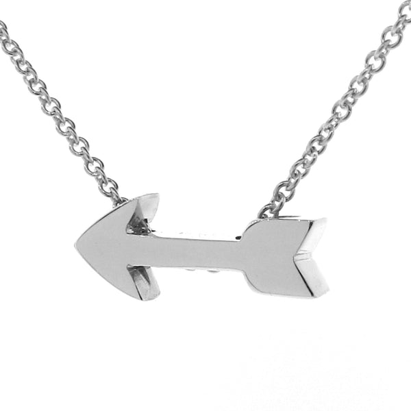 Sterling Silver 'Baby Arrow' Pendant, Necklace or Anklet