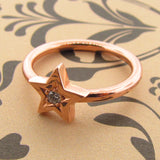 Rose Gold Diamond 'Baby Star' ring