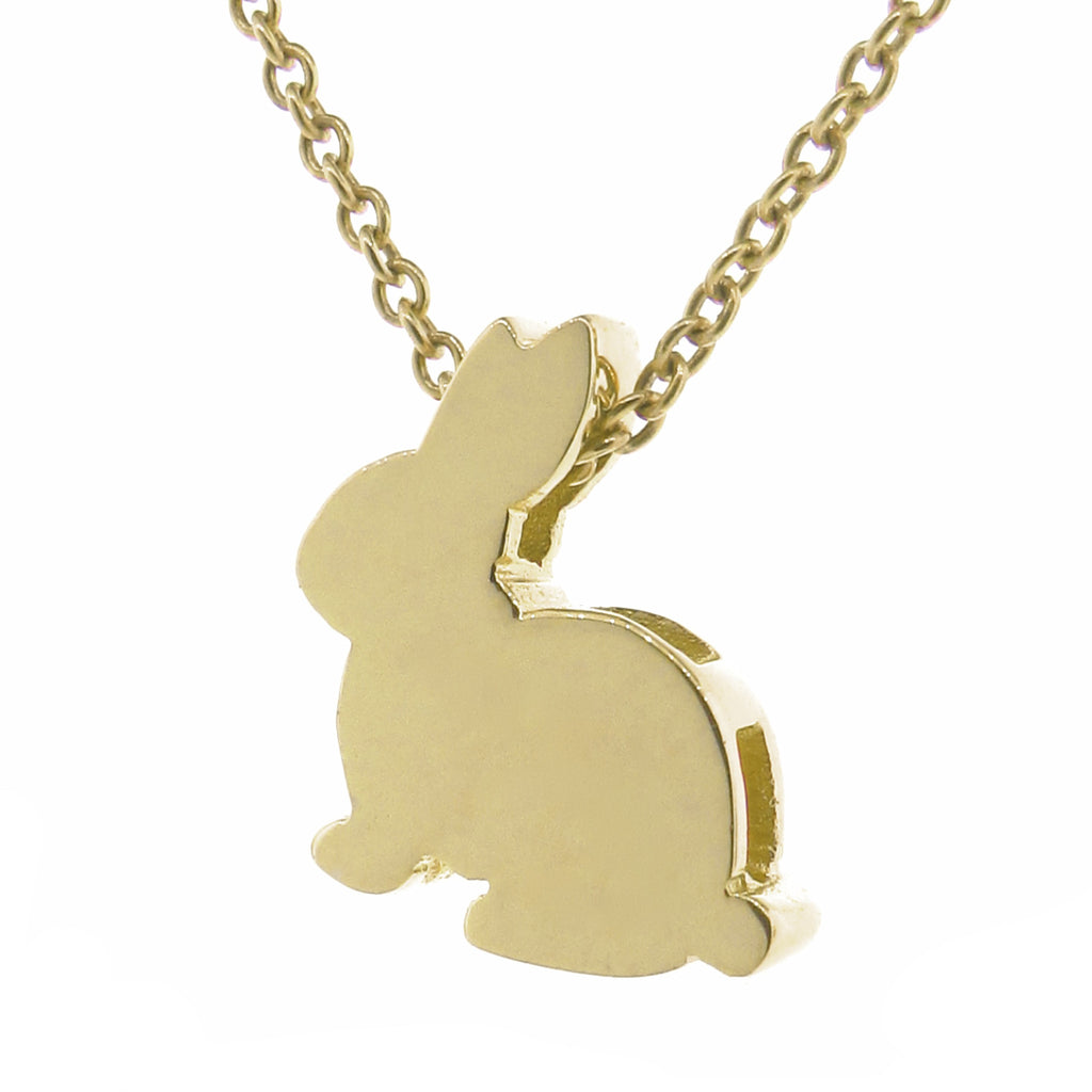 Yellow Gold Big Bunny Pendant
