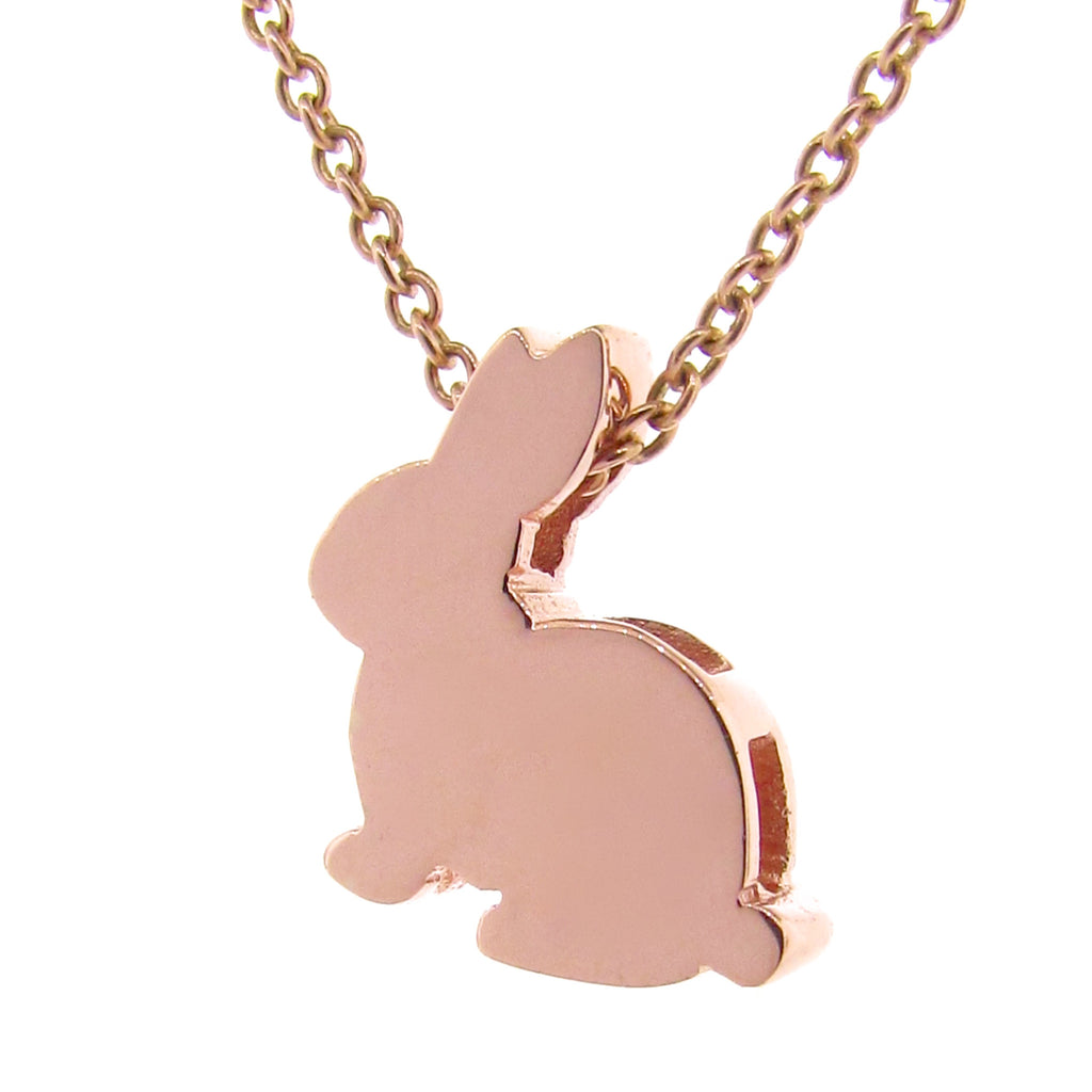 Rose Gold Big Bunny Pendant