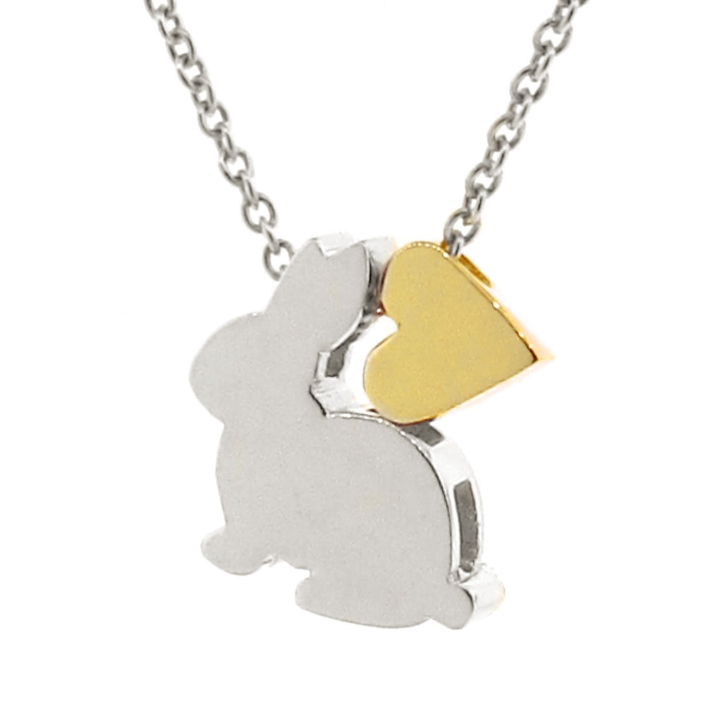 Sterling Silver & Yellow Gold Bunny Love Necklace