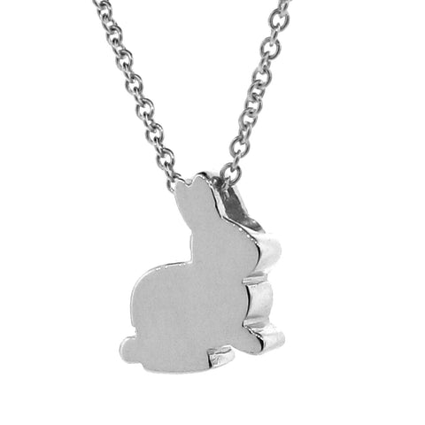 Sterling Silver 'Baby Bunny' Pendant, Necklace or Anklet