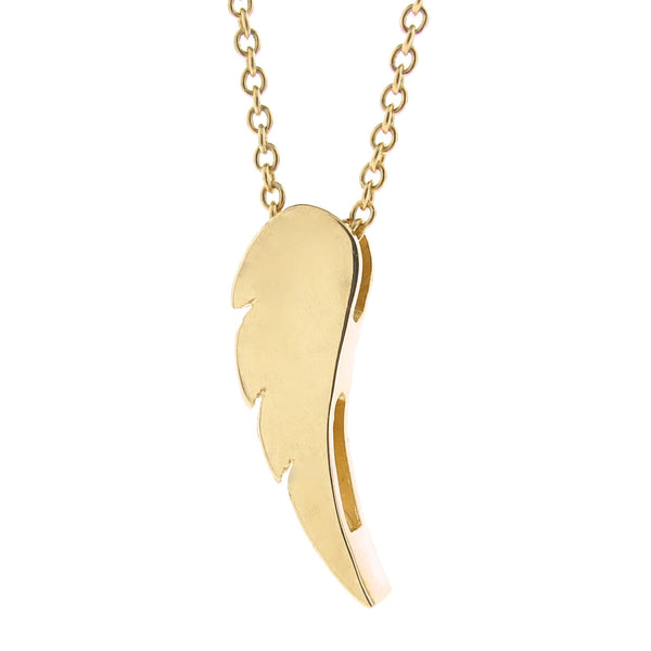 Yellow Gold Wing Pendant or Necklace