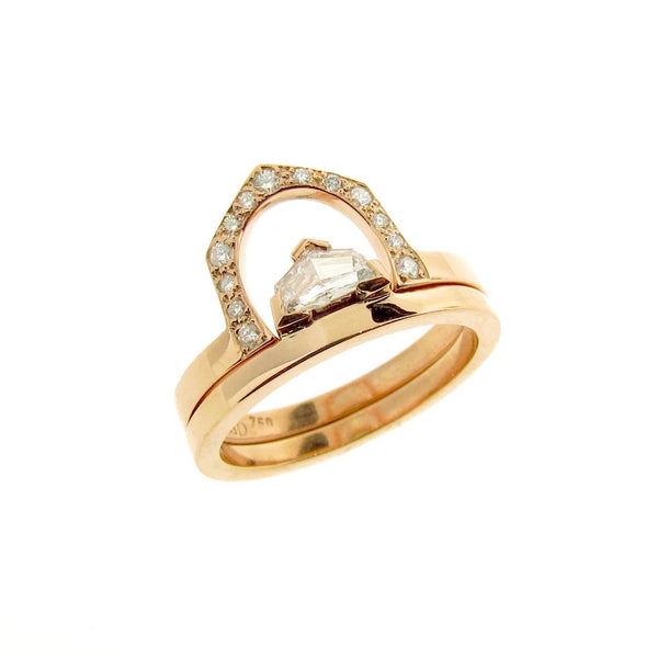 18ct Yellow Gold Diamond Cadillac Engagement Ring set