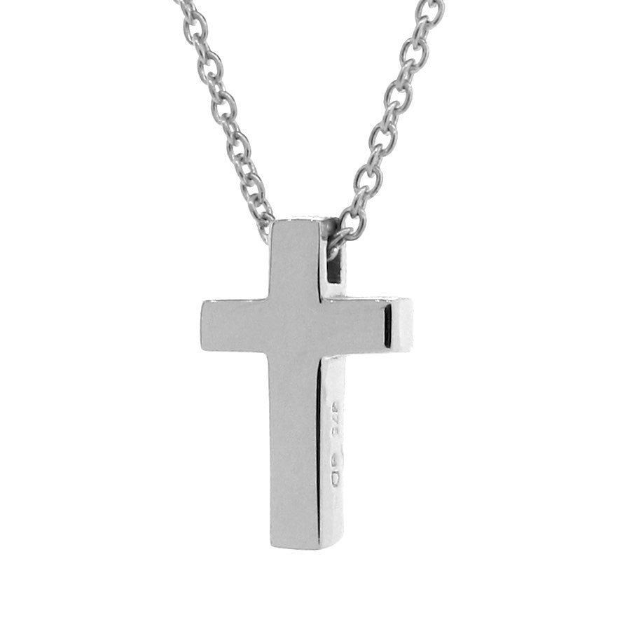 White Gold Medium Cross Pendant