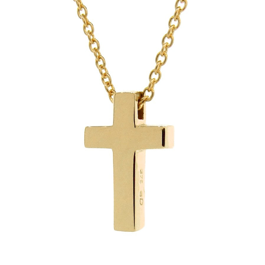 Yellow Gold Medium Cross Pendant