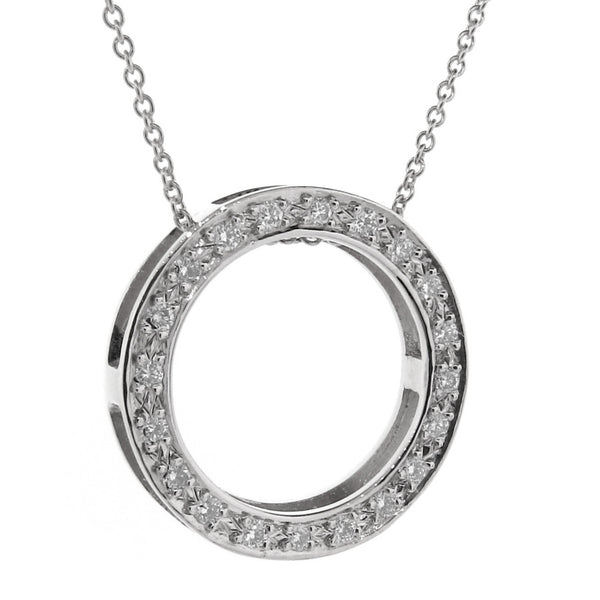 White Gold Diamond Eternity Pendant