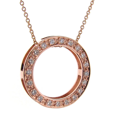 Rose Gold Diamond Eternity Pendant