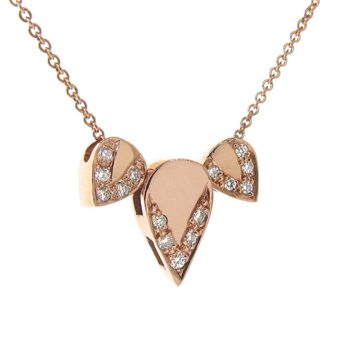 rose gold diamond Lotus necklace