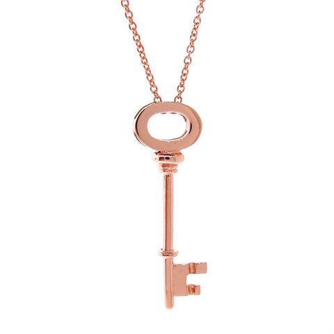 Rose Gold Key Pendant