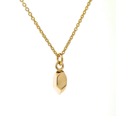 Yellow Gold Tiny Crystal Pendant