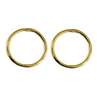 Small, Medium or Large 9ct Yellow Gold Faceted hinged sleepers