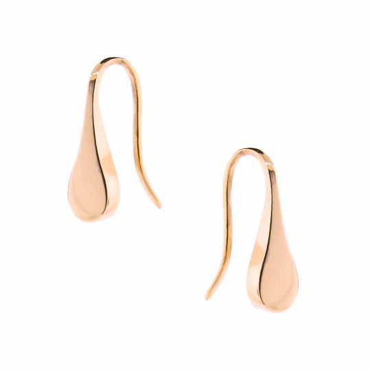 Rose Gold Flat Droplet earrings