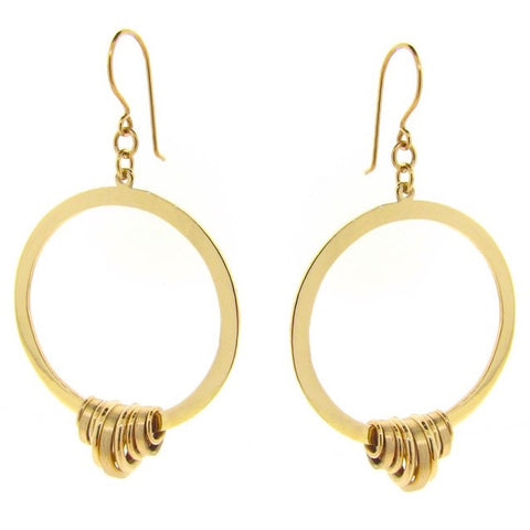 Yellow Gold Gypsy Sun Earrings