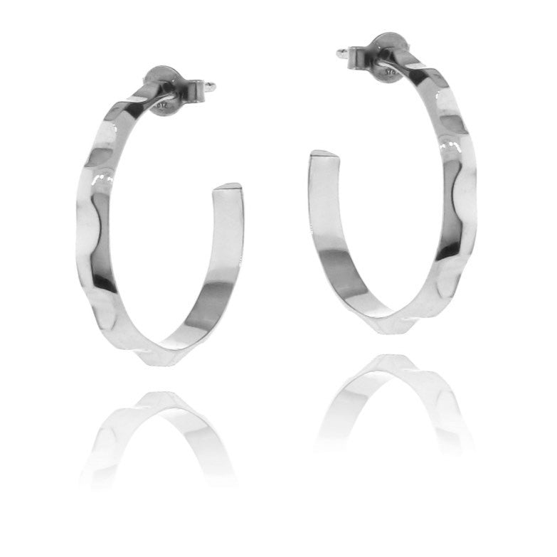 White Gold Find your Groove Hoop Earrings