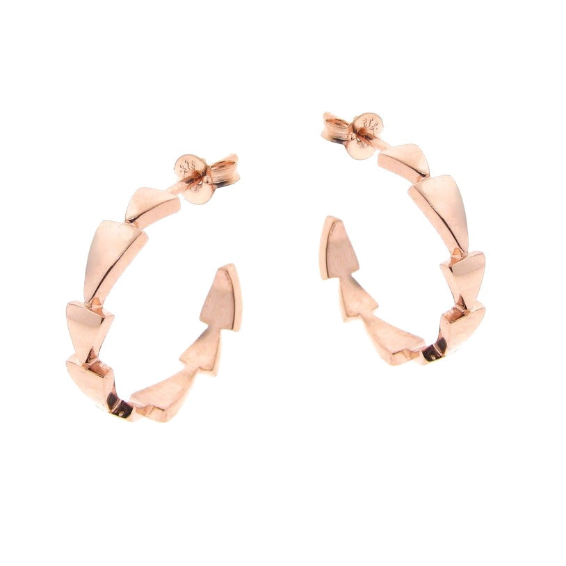 Rose Gold Chasing Arrows Hoop Earrings