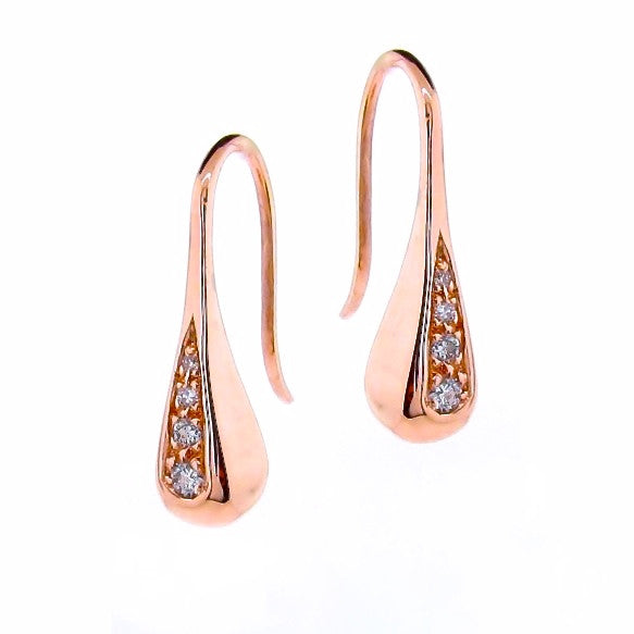 Rose Gold Diamond Droplet earrings