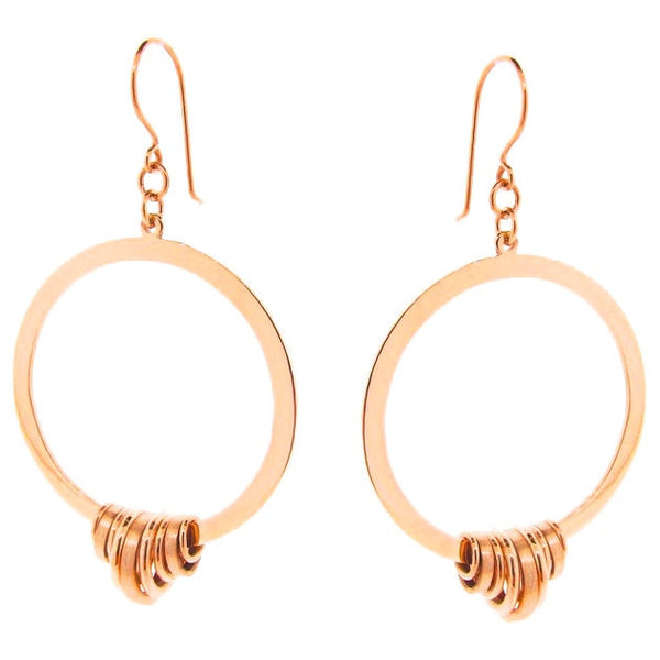 Rose Gold Gypsy Sun Earrings
