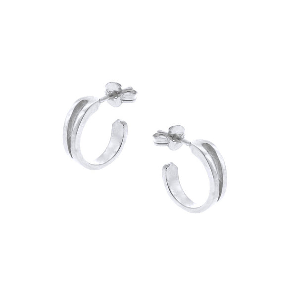 Solid White Gold Mini Travelling Hoops