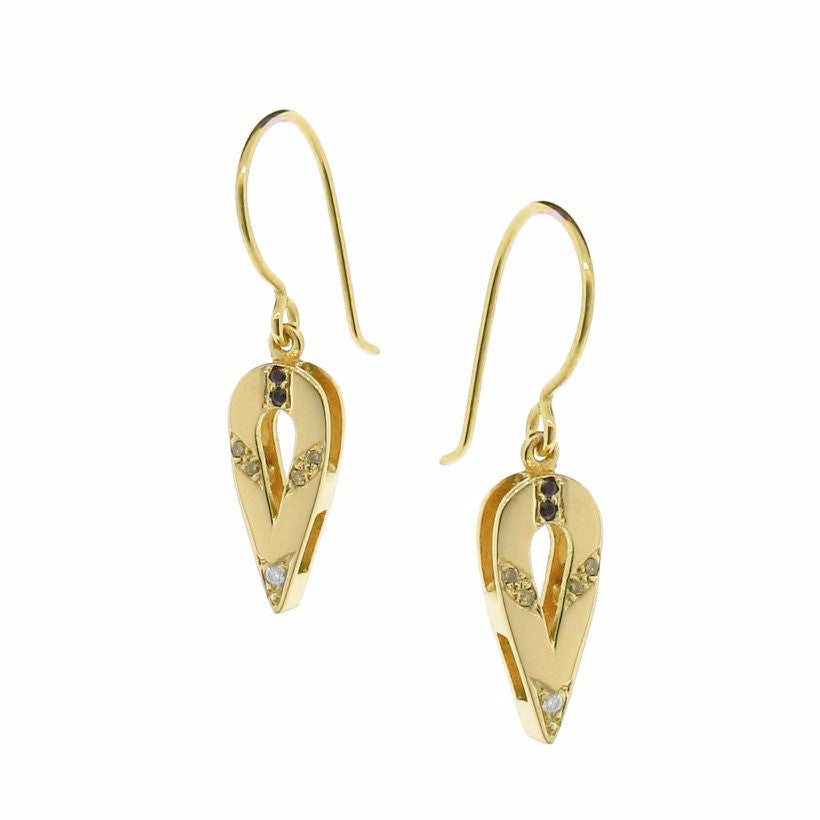 Yellow Gold Small Ombre Travelling Earrings