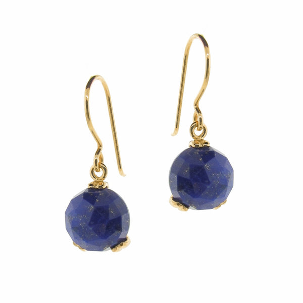 Yellow Gold small 'Era' Laspis drop earrings
