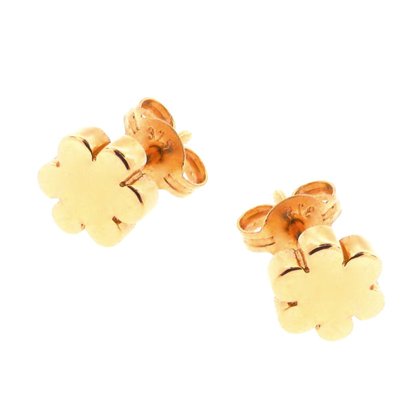 Yellow Gold Blossom Stud Earrings