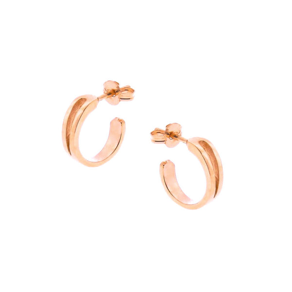 Solid Rose Gold Mini Travelling Hoops