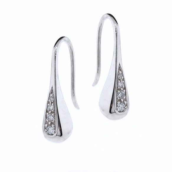 White Gold Diamond Droplet earrings