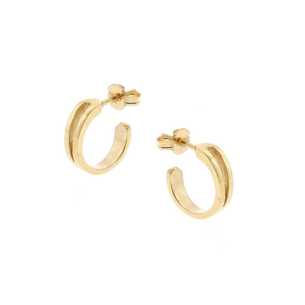 Solid Yellow Gold Mini Travelling Hoops