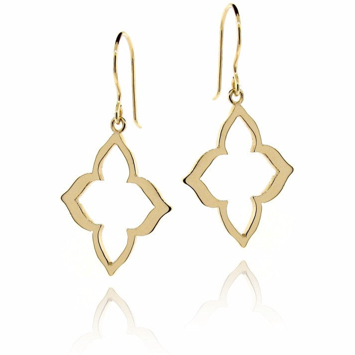 yellow gold alhambra earrings