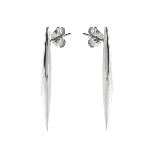 White Gold Comet tail stud Earrings
