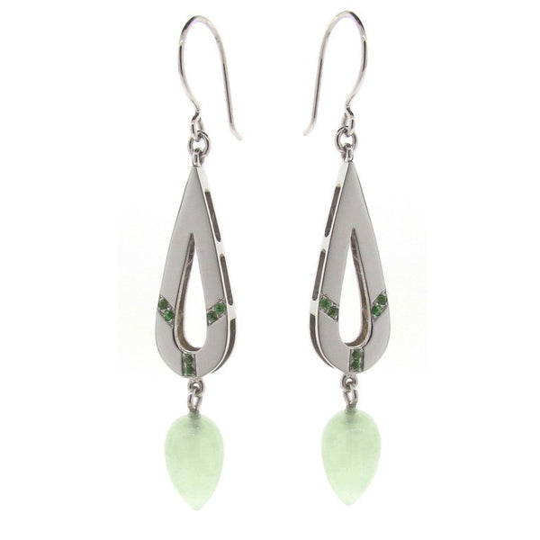 brave new warrior earrings in green