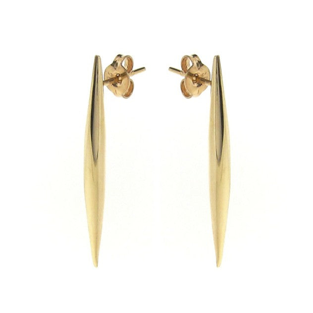 Yellow Gold Comet tail stud Earrings