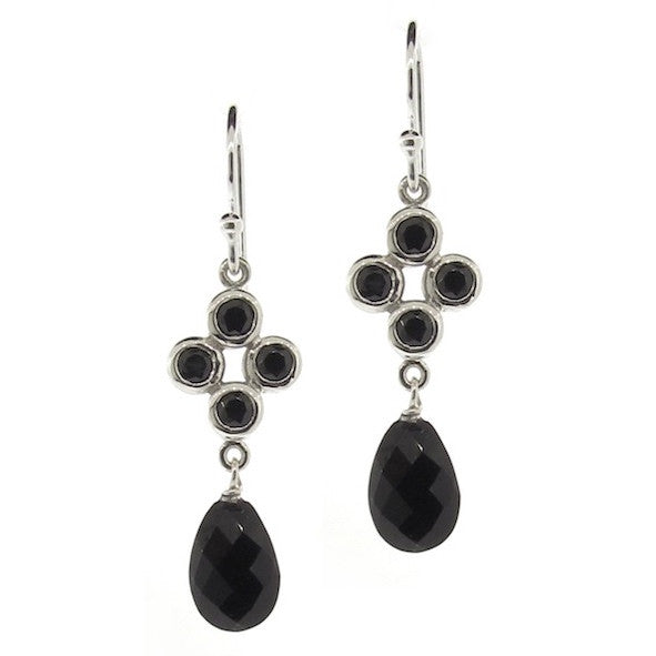 Black and Silver Quartette Bubble Earrings