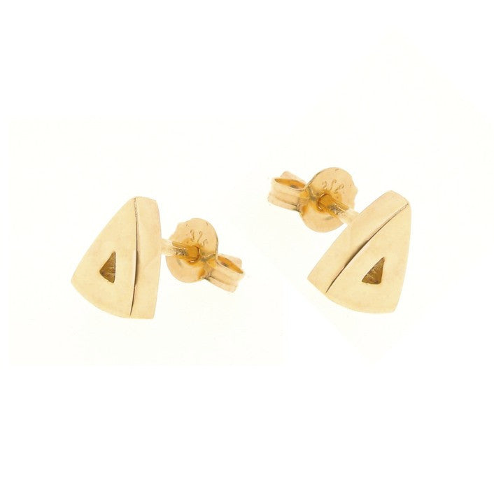 plain yellow gold arrow head studs