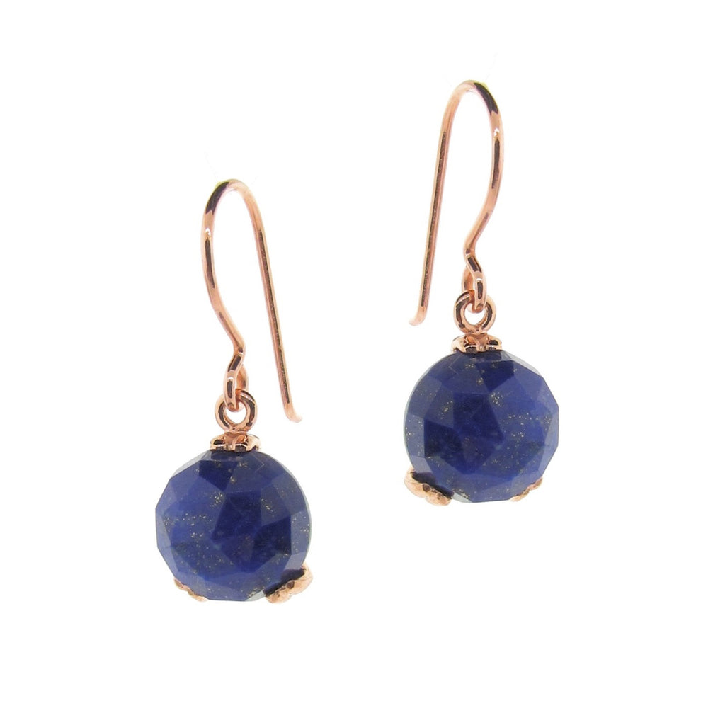 Rose Gold small 'Era' Laspis drop earrings